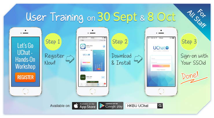 User Training on 30 Sept & 8 Oct (For All Staff)
